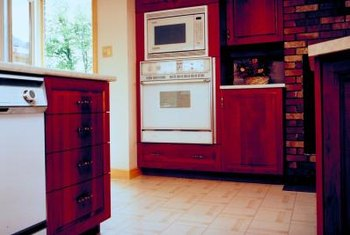 Built-in microwaves have limited space at the front.