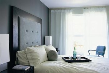 Greenish and purplish blue-grays work in every bedroom, creating a soothing tone.