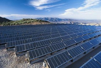 California has several solar panel farms throughout the state.