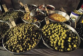 There are many different varieties of table and oil olives.