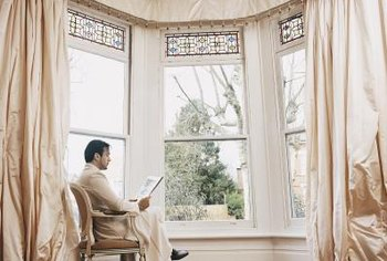 Bay windows can be dressed up for a designer look.
