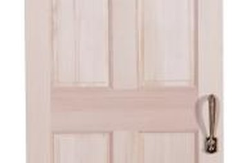 Prop up exterior doors and install them by yourself.