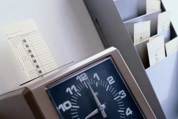 You may use a time clock to track your employees' time.
