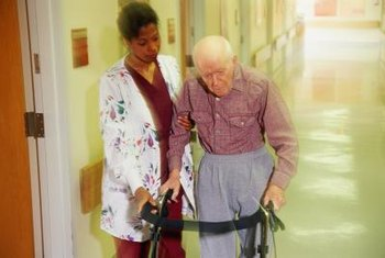 CNAs help people with daily living.