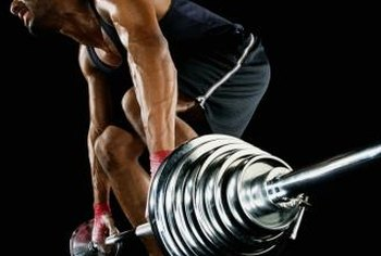 Keep your back straight during exercises like deadlifts.