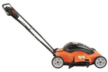 After your electric mower is plugged in, you don't have to worry about starting it.