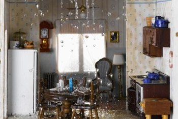 Homeowners insurance will pay for flooding through the ceiling.