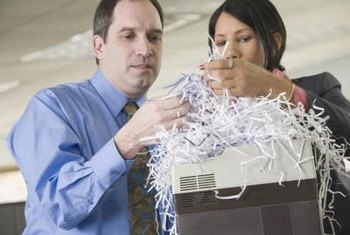 Many business documents should be retained for seven years before shredding.