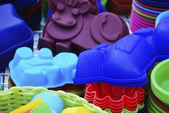 Silicone serves as colorful alternative to other bakeware.