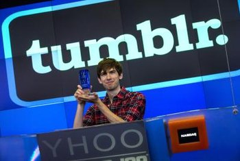 Though Tumblr is available on mobile devices, transferring posts is most easily done from a PC.