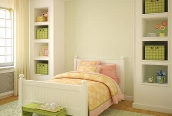 Even in a small bedroom, you should have ample space around the bed.
