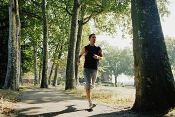 Endurance training helps you run for long distances.
