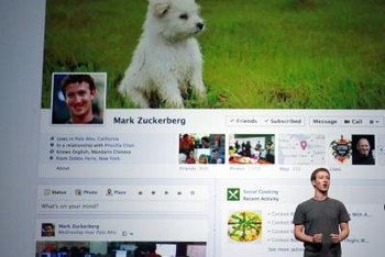 Facebook Pages use the site's timeline format, including a cover and profile photo.