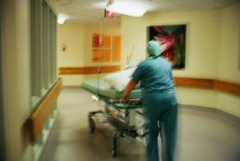 Transporters move people and equipment throughout the hospital.