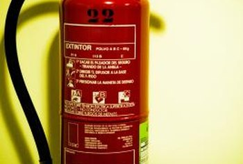 A fire extinguisher must be periodically recharged or replaced.