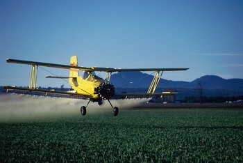 Some commercial pilots work in agriculture.