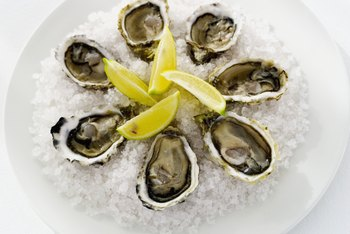 Oysters are the best food source of zinc.