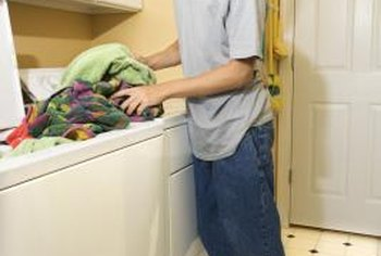 Washing machines and laundry sinks may be connected to the same drain line.