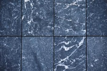 Marble flooring tiles can pose a slipping hazard when wet.