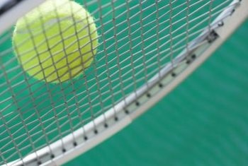 At impact, tennis strings store energy and return it to the ball.