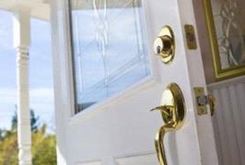 Choose white paint with a satin finish to brighten an exterior door.