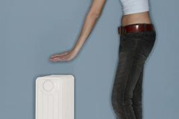 Oil-filled radiators usually have wheels, so you can move them around the house.