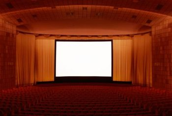 Movie theaters are painted in darker colors to prevent light reflection.