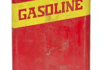 Only store gasoline in a DOT approved container.