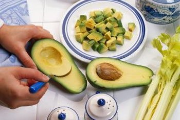 Avocado fruits are added to salads and dips.
