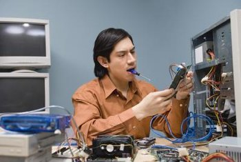 Computer technicians may specialize in the repair of PCs.