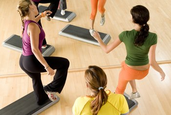 A step aerobics class is great for your glutes.