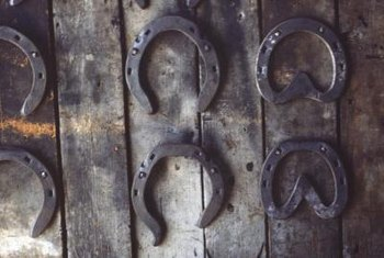A horseshoe as wall decor may symbolize good luck.