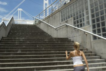 Take the stairs whenever possible to burn calories and build muscles.