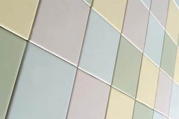 Ceramic tile can be painted or refinished in a wide variety of colors.