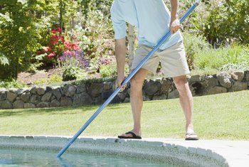 Regular pool maintenace reduces foam.