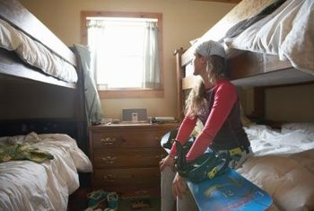 Bunk beds provide extra sleeping spots in small spaces.