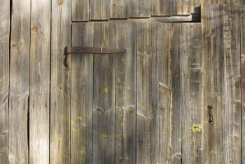 Uneven weathering is what gives old barn wood its charm.