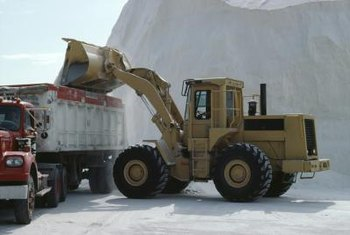 Calcium chloride is the active ingredient in many de-icing agents.