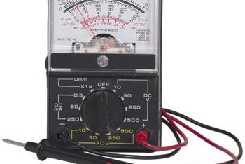 A voltmeter cam determine voltage used by facility components.