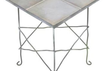 Add tile to a tabletop for a unique piece of furniture.