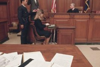 Stenotype court reporters usually work in a courtroom.