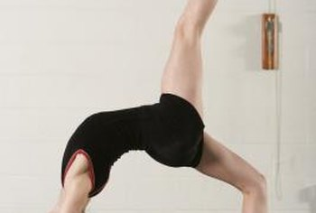 A flexible back is crucial to performing a backbend kickover.