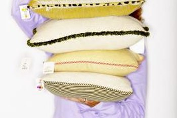 Customize plain pillows with bead fringe.