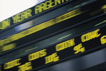 Tickers slide words across a marquee or computer screen.
