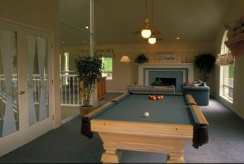 Pendant lights can provide illumination directly over the pool table and add a decorative touch to the room.