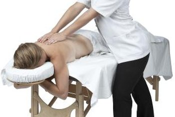 Portable tables allow massage therapists to offer their services from anywhere.