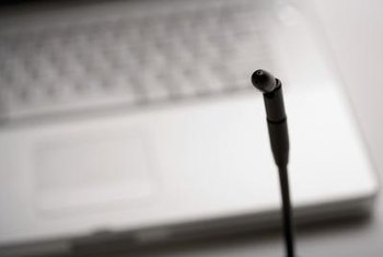 Testing your laptop's microphone helps identify problems.