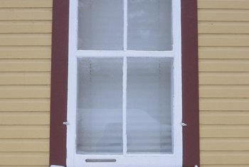 A window needs to be trimmed on the outside to prevent water from getting into the wall.