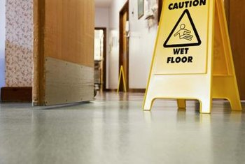 Mopping a floor presents more than one safety hazard.
