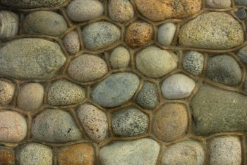 Pebbles of various colors can be used in stepping stones.